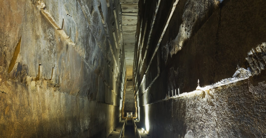 corridors of the Great pyramid